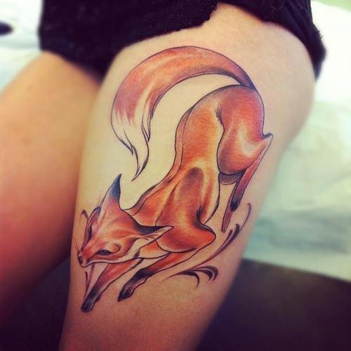 Фото татуировок с лисой.
